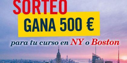 Participa en nuestro sorteo de Instagram y gana 500 € para tu curso en NY o Boston