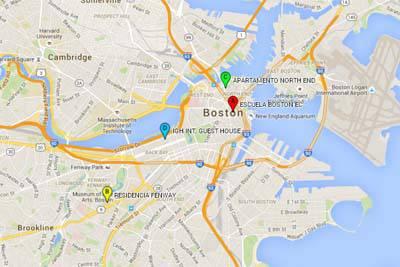 mapa boston